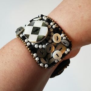 MacKenzie-Childs Large Button Cuff Bracelet